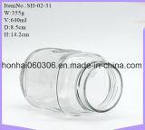 Maurer-trinkende Glas-Trommeln mit Kappen 16 0z