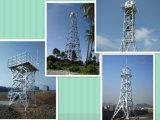 自己サポートGSMの電気通信4脚の角の電流を通された鋼鉄タワー