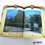 Impression à extrémité élevé chaude Softcover de brochure de Stampling de clinquant d'or