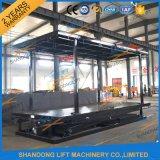 Doubles couches de levage hydraulique de 3m de double de stationnement de levage de véhicule