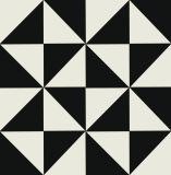 Nueva decoración / posterior y blanco / cerámica vidriada Porcelana piso Tile200 * 200mm