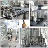 Engarrafamento de vidro automático que tampa a máquina de engarrafamento da bebida do vinho 3 in-1