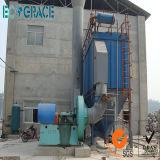 La poussière industrielle rassemblant le filtre à manches pour la chaudière allumée par charbon