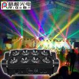 Luz principal movente clara da noite do diodo emissor de luz da aranha do diodo emissor de luz do partido 8X10W RGBW 4in1