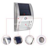 Éclairage LED solaire de mur de détecteur de mouvement de l'acier inoxydable PIR