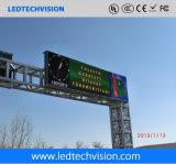 Bandera impermeable al aire libre de P16mm que hace publicidad de la visualización de LED