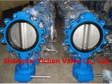 Электрический тип клапан-бабочка вафли выровнянная PTFE (D971F46)