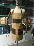 本革ストラップが付いているカスタム防水男女兼用のワックスを掛けられたキャンバス作業エプロン