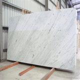 カラーラの白い磨く大理石の平板のタイル最も低く