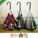 Ombrello d'inversione invertito personalizzato stampa completa per il regalo promozionale (SU-0023I)