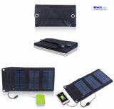 Portable de 5W 5V que dobra o carregador solar para o banco ao ar livre da potência do telefone móvel
