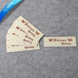 Étiquette de papier de marque d'étiquette du fabriquant de jeans faits sur commande