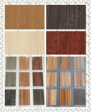Colores del panel de pared exterior HPL de madera del grano