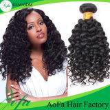 Prolonge brésilienne de cheveux humains de l'onde 7A/8A de cheveu profond en gros de Vierge