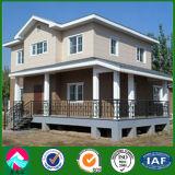 Chalet ligero de dos pisos prefabricado de la estructura de acero