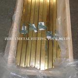 """1/2 """" X1 """" X1mmの懸命に引かれた装飾的な真鍮の長方形の管"""