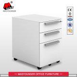 Cabinet mobile en métal à 3 tiroirs avec clé de bureau