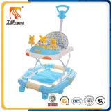 O caminhante de balanço de dobramento do bebê da venda quente de China vai circularmente com Pushbar