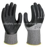 Knöchel, der Sicherheits-Handschuh mit Sandy-Nitril (ND8062, eintaucht)
