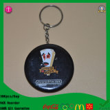 Fabrik New Arriaval PVC 2015 50mm Tinplate Badge Keychain mit SGS Mark