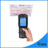 Explorador Handheld androide del código de barras de la pantalla táctil PDA industrial con la impresora