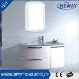 Cabina de cuarto de baño al por mayor de los muebles del PVC con el lavabo de cristal