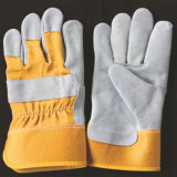 短い溶接の安全手袋の革靴の手袋の革働く手袋