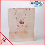 Personnaliser sacs d'emballages de papier de traitement de bande de trapèze les euro