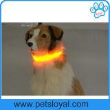 Acessórios por atacado do animal de estimação do colar de cão do animal de estimação da fibra do diodo emissor de luz do fabricante