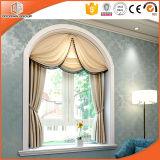 침실을%s 단단하게 한 유리의, 목제 색깔 여닫이 창 Windows 부엌을%s 가진 백색 색깔 알루미늄 여닫이 창 Windows