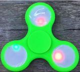 LED Light Fidget Spinner Spinner à main Jouets Spinner à doigts EDC Tri Digit Air Aluminium Cuivré Finger Gyro Copper Gold Alloy Spinner