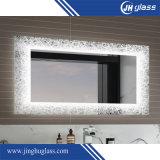 Espejo encendido decorativo de la pantalla de seda del cuarto de baño con