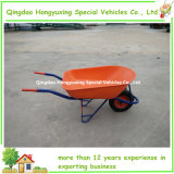 80L Steel Painted Tray Wheelbarrow с Square Pipe Frame (WB8001)