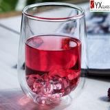 doppel-wandiges Glascup des tee-320ml/doppel-wandige Glaskaffeetasse/doppel-wandiges Glasthermos-Cup