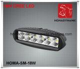 6 lumière DEL de travail de pouce 18W DEL outre de lumière pilotante de la lumière DEL de route