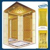 Ascenseur d'or de classique d'hôtel de luxe de couleur de système de régulation de Vvvf