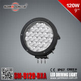 9 SUV (SM-9120-RXA)를 위한 인치 120W (24PCS*5W) Round 크리 말 LED Car Driving Light