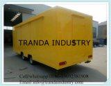 熱い販売の移動式食糧トレーラーを販売するロゴの最もよい品質の食糧カートの食糧カート