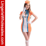 Costume sexy della biancheria dello Stewardess classico di volo per le donne