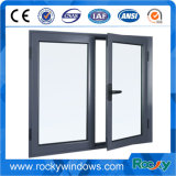 Heißer Produkt-neuer Entwurfs-Aluminiumflügelfenster-Fenster mit ausgeglichenem Glas