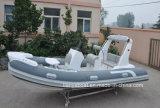 Da fibra de vidro Semi-Rigid da casca do reforço 520 de Liya fabricante inflável de China do barco