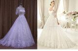 Abnehmbare Umhüllungen-Spitzesequins-wulstige Hochzeits-Kleider