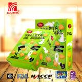Caixa verde que embala os biscoitos animais friáveis 200g