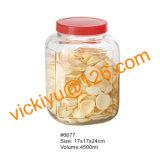 bottiglie di vetro di grande memoria 4.5L, vasi di vetro dell'alimento con la protezione di plastica