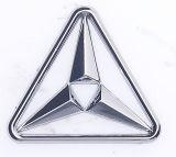 Etiqueta engomada decorativa auto de cromo del laminado del coche del emblema de la divisa plástica del ABS
