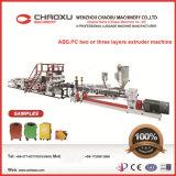 ABS / PC dos o tres capas de la máquina extrusora de línea de montaje de plástico para el equipaje