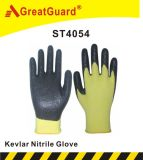 Перчатка нитрила Greatguard отрезанная Supershield упорная (ST4054)