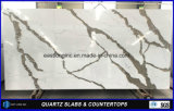 White Calacatta Quartz Stone Slab pour comptoir de cuisine / Home Stones / Decoration Material / Wholesale Building Material