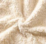 Der heißer USA-, Großbritannien, Kanada Vlies Sherpa Luxuxzudecke Markierungsfahnethrow-Zudecke-190X150cm ultra weiche doppelte umfassende korallenrote