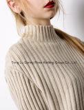 方法衣類の肋骨の側面の分割された特別に長い袖の女性のセーター